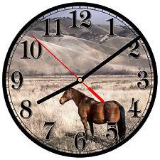 """8"""" WALL CLOCK - Horse 20 Horses Equestrian - Kitchen Office Bathroom Bar Bedroom"""