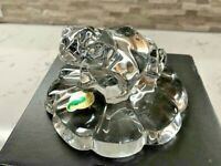 Waterford Crystal Frog on Lily Pad Paperweight (Seahorse) with Box!!