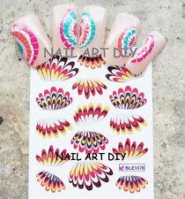 Stickers-decals nail art water transfer-tattoo adesivi unghie-forma di ALETTE