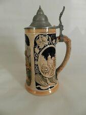 "Vintage German Beer Stein Reinhold Merkelbach #4070, 1/2 litre, ""Hunter &"""
