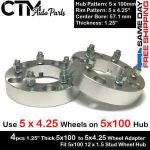 """4PC 1.25'' THICK 5x100 TO 5x4.25"""" WHEEL ADAPTER SPACER FIT PONTIAC MODELS"""