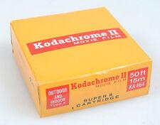 KODAK KODAKCHROME II COLOR MOVIE FILM SUPER 8 UNOPENED EXPIRED MARCH 1974
