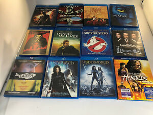 Lot A of 12 BluRay Movies, Lots Of Great Titles, No Digital Codes, All Discs.