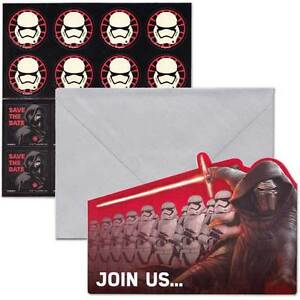 Pack of 8 Star Wars (SAVE THE DATE) Birthday Party Post Card Invitation