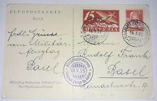 AK Karte Flugplatz Zürich Schweiz 1925 Flugpost Luftpost Ganzsache GA 2 (78