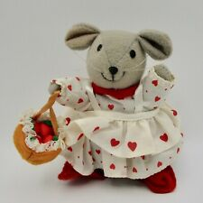 """Mouse plush heart dress Russ Berrie vintage Valentines Day love gift 4 1/2"""""""