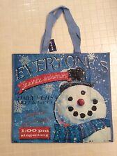 NEW Marshalls ~ Favorite Snowman ~ Shopping Bag Reusable Tote EcoFriendly