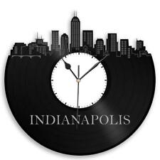 Indianapolis Vinyl Wall Clock  Cityscape Skyline Unique Gift Collectible Vintage