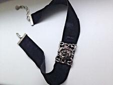 Choker Halskette Gothic Multilayer Samt Streifen Kragen Boho L tzchen Neu