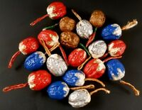 19 Walnuts Painted Embellished Shells Holiday Christmas Decor
