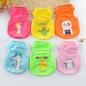 Pet Dog Clothes Summer Shirt For Dog Clothing Cartoon Dog Vest Clothes For Puppy