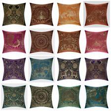 "Mandala 12"" Multi Cushion Pillow Cover Silk Brocade Sofa Throw Home X-Mas Decor"