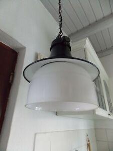 Alte Industrielampe Emaille Lampe Hängelampe Bauhaus ? Leuchte