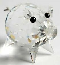 Swarovski Crystal---Mini Pig with Curly Metal Tail--Mint/Boxed/Certificate