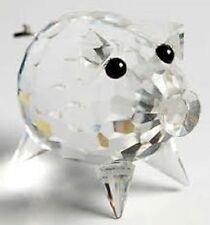 SWAROVSKI Crystal --- Mini di maiale con ricci coda in metallo -- Nuovo di zecca/Boxed/certificato