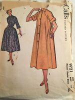 VINTAGE, RETRO, MCCALL'S, 1950'S, DRESS, #9721, SIZE 14, BUST 32