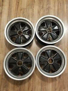 Set Of Porsche Fuchs Rims 15x8 & 15x7 OEM  911 930 944 951 Turbo 924s