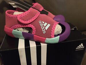 Adidas Performance Toddler Girls Alta Venture Sandal Size 6T MED PINK Purple