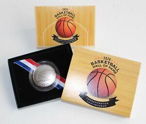 2020 D Basketball Hall of Fame BU Half Dollar Curved 50c Coin Box + COA
