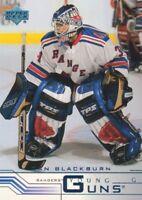 2001-02 Upper Deck Hockey #434A Dan Blackburn YG RC New York Rangers