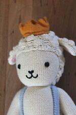"Cuddle + Kind Sebastian The Lamb 14"" Plush Stuffed Animal Knit Plush Doll"