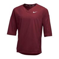 Nike Baseball 3/4 Sleeve Warm-Up Jacket Solid Maroon Men Size 2XL XXL 897383-669
