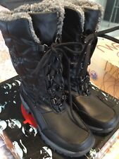 LADIES TOTES THERMOLITE LINED SIDE ZIP LACE FRONT WATERPROOF BLACK BOOTS NEW 7