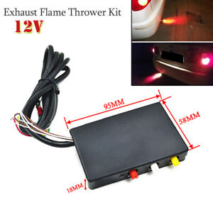 Universal 12V Car Aircraft Exhaust Flame Thrower Kit Fire Burner Afterburner