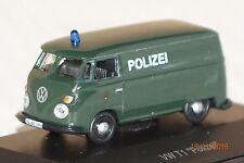 VW T1 Transporter Polizei grün 1:87 Schuco neu + OVP 25735