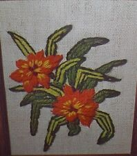 Crown Arts Design by Caryl NEUROGELIA BROMELIAD Crewel Embroidery Kit Linen