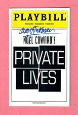 Alan Rickman / PRIVATE LIVES 2002 Signed-in-person Playbill / Alan Bates