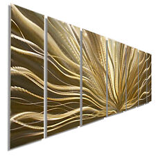 Metal Wall Art ULTRA MODERN  Abstract Gold Painting SIGNED ORIGINAL Jon Allen