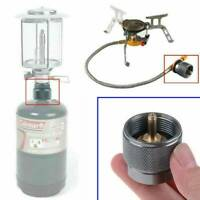 1* 1LB Adapter Camping Propane Small Gas Tank Adapter Input Lindal Output Stove