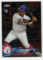 2018 Topps Chrome WILLIE CALHOUN Real Logo Rookie Card RC #113 Texas Rangers