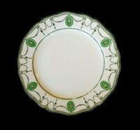 Beautiful Royal Doulton Countess Green Rim Salad Plate Circa 1920