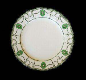 Beautiful Royal Doulton Countess Green Rim Salad Plate Circa 1920