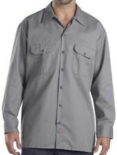 Dickies Gray Grey Work Shirt Vintage With Patches Name Garry Size 4xlt