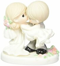 Precious Moments Lifetime Happiness Figurine Porcelain Wedding Gift Cake New