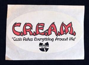 Vintage Wu-Tang Clan C.R.E.A.M. decal sticker