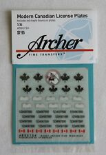 Archer 1/35 Modern Canadian License Plates (w/Red Maple Leaves on them) AR35154