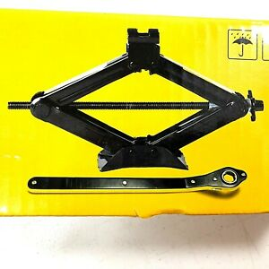 Ratcheting Scissor Jack with Telescoping Lug Wrench 1.5T 3000 lb NEW