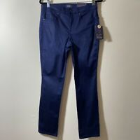 NYDJ Lift Tuck Technology Straight Leg Women's Pants Blue Size 6 New