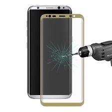Kratzfeste Handy-Displayschutzfolien für das Samsung Galaxy S8 Gold Hartglas