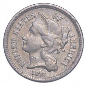 ***3***THREE***Cent*** - 1872 Three Cent Nickel Piece - Tough to Find *498