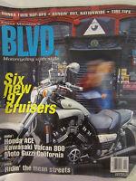Cycle Magazine's BLVD Magazine January/February 1997 Six new 97 cruisers Honda
