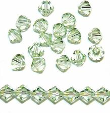 SCB518 Chrysolite Green 6mm Faceted Bicone Swarovski Crystal Beads 24pc