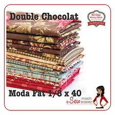 Moda Double Chocolat Quilt Fabric 3 Sisters Fat 1/8 quilting fabrics not quarter