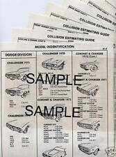 1982 1983 1984 1985 1986 1987 OLDSMOBILE CUTLASS CIERA BODY PART CRASH SHEETS ^^