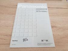 Unbenutzt Originale Panasonic Bedienungsanleitung für NV-Dv10000EC