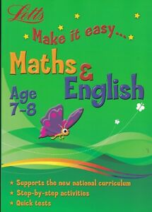 LETTS MATHS & ENGLISH AGE 7-8 ACTIVITY LEARNING BOOK KEY STAGE 2 YEAR 3 PB